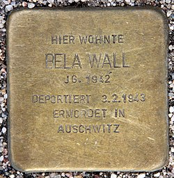 Photo of Bela Wall brass plaque