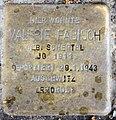 Stolperstein Brandenburgische Str 43 (Wilmd) Valerie Fabisch.jpg