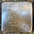 Stolperstein Karlsruhe Gertrud Kullmann Kriegsstr 69 (fcm).jpg