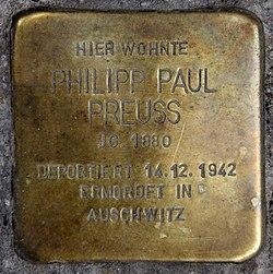Photo of Philipp Paul Preuss brass plaque