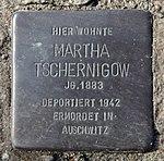 Stolperstein Strausberger Platz 8 (Frhai) Martha Tschernigow.jpg