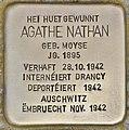Stolperstein für Agathe Nathan (Esch-sur-Alzette).jpg