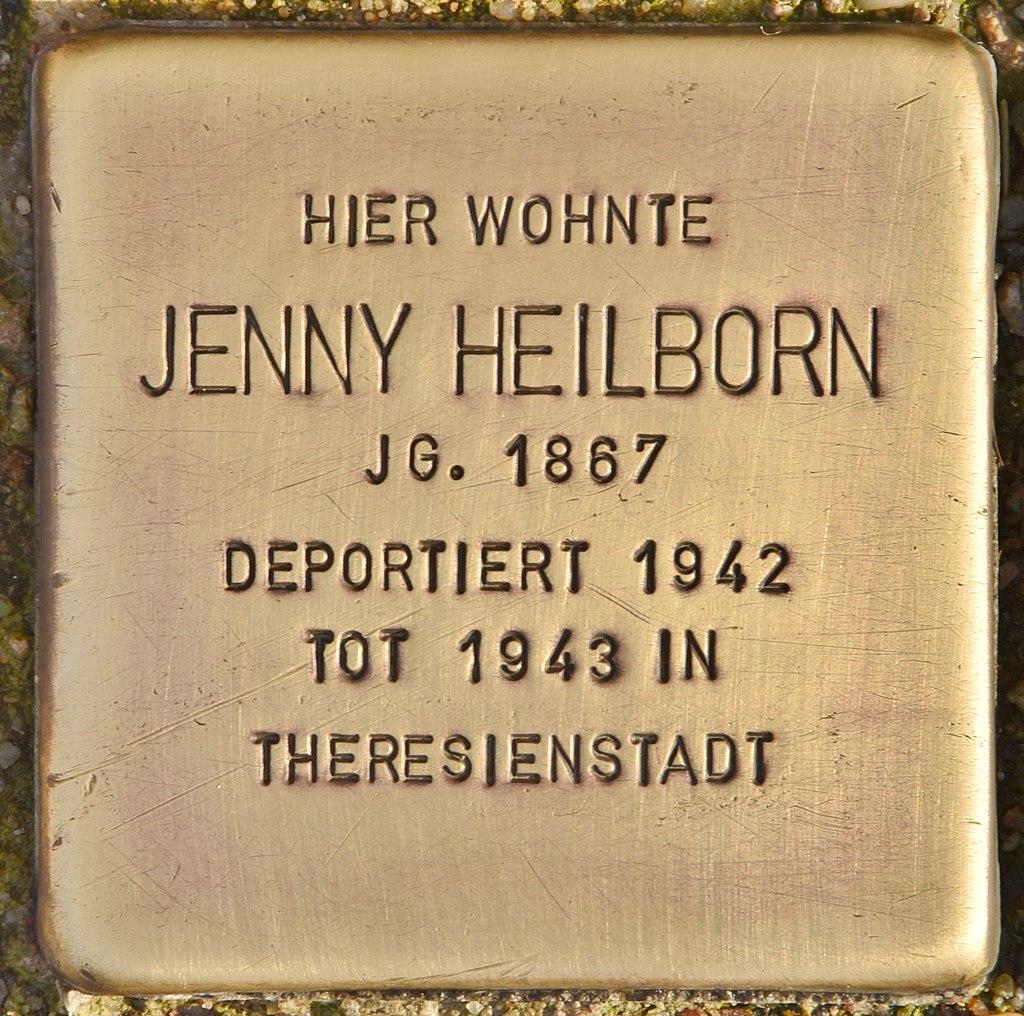 Stolperstein für Jenny Heilborn (Finsterwalde).jpg