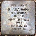 Stolperstein für Klara Baer.jpg