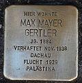 Stolperstein für Max Mayer Gertler.JPG