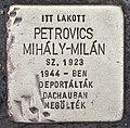 Stolperstein für Mihaly-Milan Petrovics (Pecs).jpg