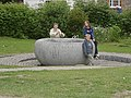 Stone bowl next to Newbury Lock, Kennet and Avon Canal - geograph.org.uk - 73620.jpg