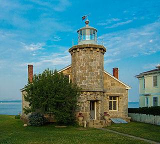 Stonington Harbor Light lighthouse in Stonington, Connecticut, United States
