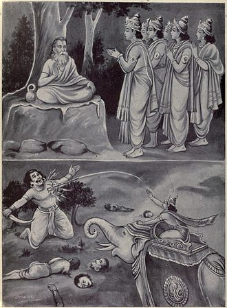 Dadhichi - Gods pray to Dadhichi to give his spinal cord to make a thunderbolt