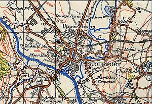 Stourport-on-Severn - Map of Stourport, 1942
