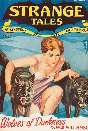 Strange Tales (pulp magazine) -  Strange Tales of Mystery and Terror (Jan. 1932). Cover art by Wesso (Hans Wessolowski).