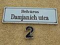 Street sign, Damjanich Street, 2020 Pápa.jpg