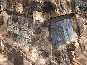 Charles Sturt - Charles Sturt monument in Merbein, Victoria.