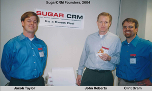 SugarCRM - From left to right, Jacob Taylor, John Roberts and Clint Oram in 2004