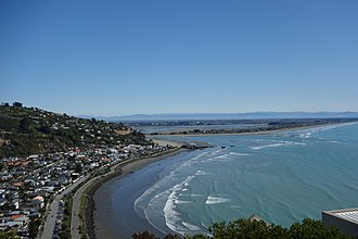 Sumner, New Zealand - Looking down on Sumner (left) from Scarborough