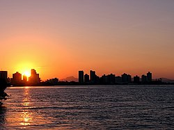 Sunset in Itajaí Açu River, Santa Catarina - Brazil.jpg