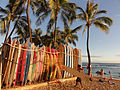 Surfboards in Waikiki.JPG