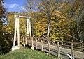 Suspension bridge at Grand Ravines county park.jpg