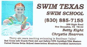 Swim Texas Business Card