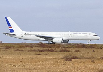 Cabo Verde Airlines - A Cabo Verde Airlines Boeing 757-200 leased from Icelandair.