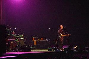 T Bone Burnett - T Bone Burnett on stage at Birmingham's NIA, May 5, 2008 with Alison Krauss and Robert Plant