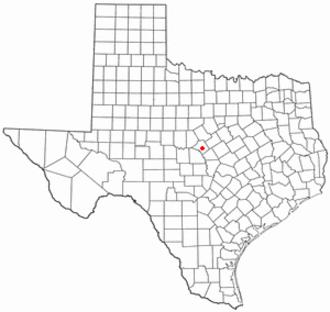 Goldthwaite, Texas - Image: TX Map doton Goldthwaite