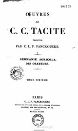 Tacite - Oeuvres complètes, trad Panckoucke, 1833.djvu