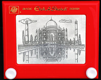 Etch A Sketch - Image: Taj Mahal drawing on an Etch A Sketch