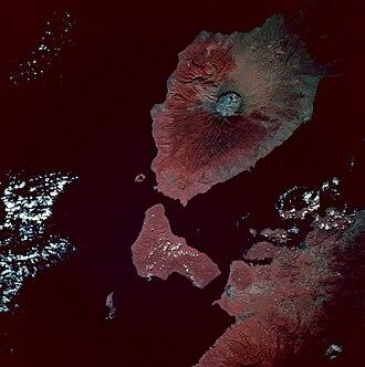 1815 eruption of Mount Tambora - Image: Tambora EFS highres STS049 STS049 97 54