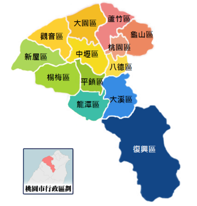Map of 桃園