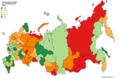 Taux régionaux de suicide en Russie (2015).png
