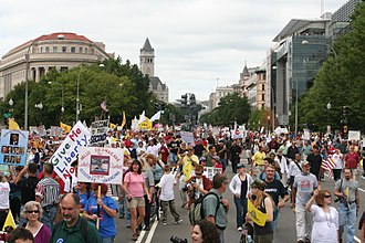 Taxpayer March on Washington - Protesters walking down Pennsylvania Avenue