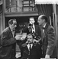 Televisiespel Arsenicum en oude kant, vlnr Joop Doderer, Dick Wama , Ton L, Bestanddeelnr 911-1337.jpg