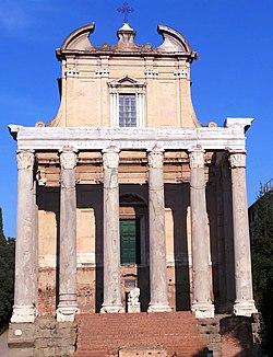 Tempel des Antoninus Pius und der Faustina (Forum Romanum).jpg