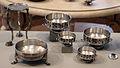 Tesoro di hildesheim, argento, I sec ac-I dc ca., treppiede e ciotole.JPG
