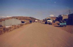 Main street of Thaba-Tseka