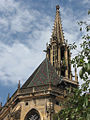 Thann church, detail of coloured tiled roof and tower.jpg