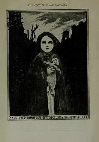 Commission for Relief in Belgium - 1917 poster for Belgian relief