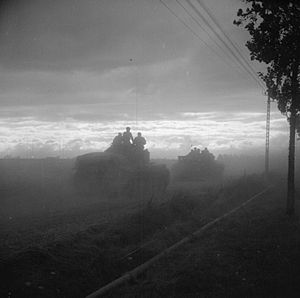 Operation Bluecoat - Operation Bluecoat: Cromwell tanks of the 7th Armoured Division move up in the morning of 30 July 1944