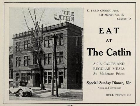 File:The Catlin restaurant - Canton, Ohio - 1915 advertisement.tiff