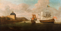 The Embarkation of Catherine of Braganza, Lisbon, 1662 (early 18th-century copy of a lost original by Dirk Stoop).png