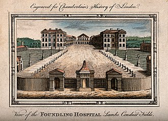 Ashlyns School - The original Foundling Hospital, London, in 1770