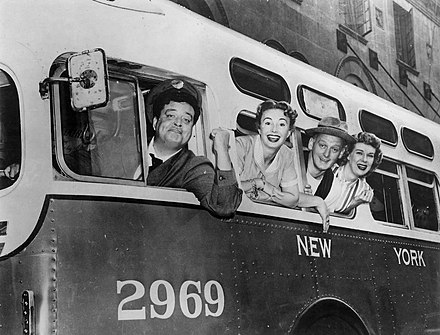 The main cast of The Honeymooners in 1955 The Honeymooners full cast 1955.JPG