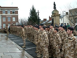 Light Dragoons - The Light Dragoons receiving the Freedom of the Borough of Barnsley