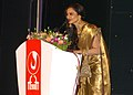 The Noted Film Actress Rekha addressing at the inauguration of the 39th International Film Festival (IFFI-2008) at Kala Academy, in Panaji, Goa on November 22, 2008.jpg