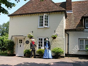 Wingham, Kent - Image: The Old Watchmaker's Cottage complete with scarecrows geograph.org.uk 455588