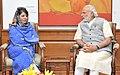 The PDP leader, Ms. Mehbooba Mufti meeting the Prime Minister, Shri Narendra Modi, in New Delhi on March 22, 2016.jpg