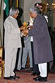The President, Dr. A.P.J. Abdul Kalam presenting Padma Bhushan to Shri Javed Akhtar, at an Investiture-II Ceremony at Rashtrapati Bhavan in New Delhi on April 05, 2007.jpg