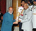 The President, Shri Ram Nath Kovind presenting the Padma Shri Award to Shri Arvind Kumar Gupta, at the Civil Investiture Ceremony, at Rashtrapati Bhavan, in New Delhi on March 20, 2018.jpg