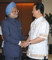 The Prime Minister, Dr. Manmohan Singh and the Vietnam Prime Minister Mr.Nguyen Tan Dung holding bilateral talks, at Cebu in Philippines on January 14, 2007.jpg